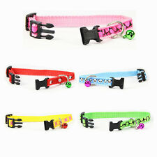 Print Nylon Dog Cat Collar With Cute Bell Personalized Puppy Small Pet Products
