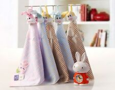 Easter Rabbit Cute Cotton hand face Towel Kitchen Bath Embroider Baby Washcloth
