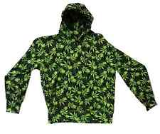 Marijuana Printed Hooded Sweat Shirt LT - 10XLT Big and Tall USA