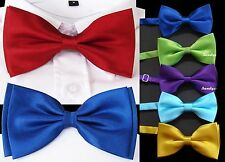 Boy's Men's Bow Tie Bow Wedding Pageboy Communion In 30 Colours CHEAP & TOP
