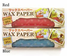 red or blue polka dot wax paper for food or wrapping 218x250mm 25pcs