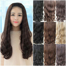 Hot Sale Half-head Straight Cruly Wavy Hairpieces Clip in Hair Extensions 7Clips