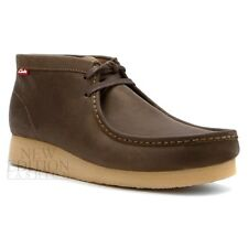 Clarks Stinson Hi Men's Wallabee Style Leather Casual Shoes 63370 Olive Nubuck