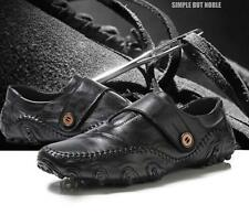 New Black/Brown Mens Velcro Strap Driving Moccasins Casual Shoes Sneaker