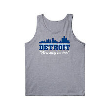 Detroit We're Doing Our Best Michigan Football Funny Gun City - Mens Tank Top