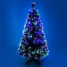 Green Fibre Optic Artificial Indoor Christmas Festive Tree 3ft 4ft 5ft or 6ft