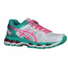 92a5a8b8defc NEW WOMENS ASICS GEL-KAYANO 21 RUNNING SHOES TRAINERS WHITE   HOT PINK    EMERALD