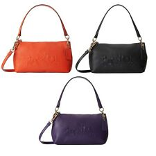 Coach Embossed Horse and Carriage Leather Charley Crossbody Choose From 3 Colors