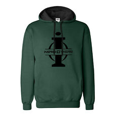 "Big and Tall Hoodie LT – XXXLT "" InspireOthers"" Green Black Fleece Sweatshirt"