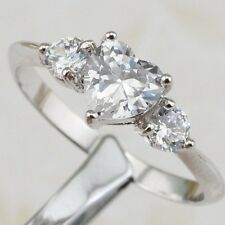 Size 5 6 7 8 9 10 Nice White Sweet Heart CZ Gems Jewelry Gold Filled Ring R1888
