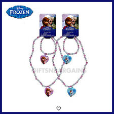 DISNEY FROZEN Elsa Anna/Olaf/2Pc/Necklace+Bracelet Set Christmas Gift Girls