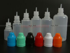 100Pcs 3-50ml Empty Plastic Childproof Cap E-juice E-Liquid Dropper Bottles LDPE