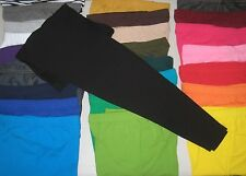 Cotton Spandex Ankle Length Leggings Pants Misses Women's Plus Size S-3XL COLORS