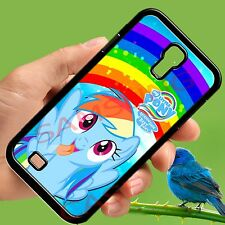 my little pony rainbow dash black samsung galaxy S3 S4 S5 note 2 3 4 case