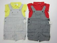 NWT Infant Toddler Baby Boys Creeper Shortall Overalls Jumpsuit Romper Sz:24 Mo