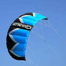 FREE POSTAGE 2m² Blue Quad Lines Stunt / Traction Kite / Kiteboard For Beginner