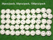 Spicybuys 130pcs Air flow Hollow Plastic Practice ball for golf tennis training