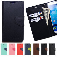 Leather Flip cover wallet case credit id card holder Money Pouch combo purse D