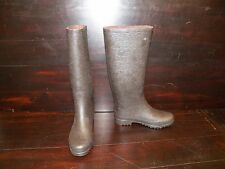 New Womens UGG Wilshire Logo Tall Stout Brown Rain Winter Waterproof Boots