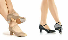 "NEW! SO DANCA 2"" HEEL TAP DANCE SHOE. BUCKLE STRAP. COLORS: BLACK OR TAN. (TA67)"