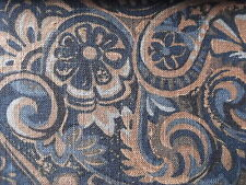 """By the Yard/ M 57"""" Linen Viscose Fabric Upholstery Decor Crafting Drapery Floral"""