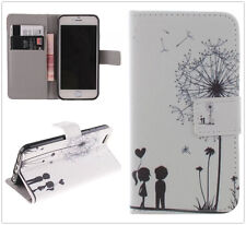 Dandelion Wallet Card Holder Flip Leather Case TPU Cover Stand For Cell Phones