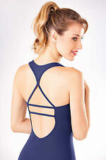 NEW! WOMENS DANCE BALLET LEOTARD WITH A GEOMETRIC BACK. 3 COLORS! (RDE1525)