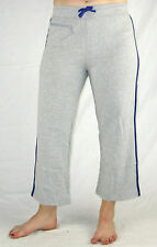 LADIES Activewear 3/4 Tracksuit Gym Yoga Pants (3108) Grey Blue Sz 8 10 12 14 16
