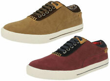 MENS LAMBRETTA ARABOUR LACE UP ROUND TOE SMART CASUAL TRAINER STYLE SHOES/PUMPS
