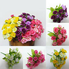 21pcs Artificial Flower Fake Silk Flower Arrangement Home Garden Wedding Party