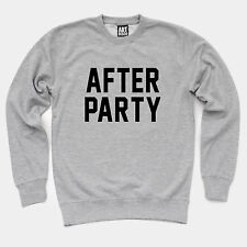 After Party Sweatshirt - Grey Jumper outfitters graphic slogan funny sweat urban