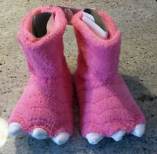 Monster slippers shoes Carter's Pink toddler girls  7/8 9/10 11/12 M L XL New