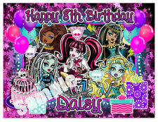 Monster High Birthday Edible Image Cake Topper Personalized Icing Sheet Frost