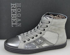 HOGAN REBEL SCARPA SNEAKER ALTA BAMBINA/DONNA-GIRL/WOMAN SHOES N. 36-39 GRIGIO