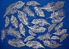 EDIBLE CAKE LACE FEATHERS THESE ARE REALLY BEAUTIFUL PLEASE SEE DESCRIPTION.