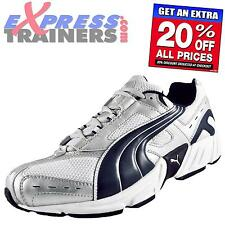 Puma Mens Dash Running Fitness Gym Cross Training Trainers Wht Navy *AUTHENTIC*