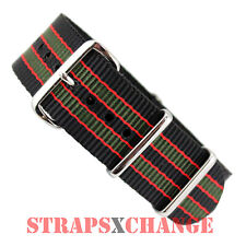 NATO® G10 BLACK KHAKI RED James Bond military diver watch strap band NYLON green