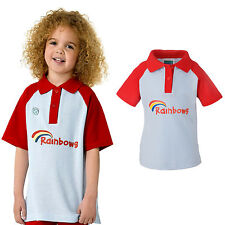 RAINBOWS POLO UNIFORM SHIRT ALL SIZES OFFICIAL GIRLS CLUB KIDS FREE DELIVERY
