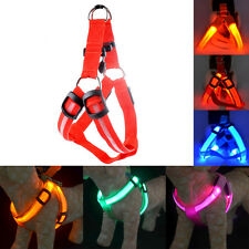 Brand New Leash Rope Belt LED Flashing Light Harness Dog Pet Safety Collar