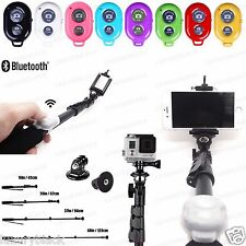Extended Selfie Stick MONOPOD for iPhone 6 plus Note 4 3 + Bluetooth Remote