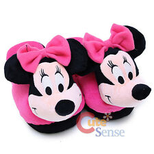 Disney Minnie Mouse 3D Plush Slipper Pink Bow Indoor Slipper Shoes Size S M L