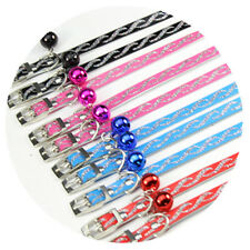 4 Colors Faux Leather Cat Collars With Cute Bell Fashion Puppy Pet Products