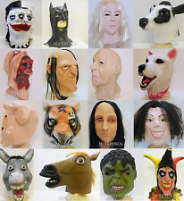 Full Overhead Latex Mask Fancy Dress Halloween Costume Office Stag Party