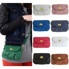 Women PU Leather Crossbody Shoulder Bag Messenger Tote Satchel Mini Handbag