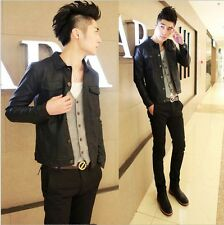 2014 Spring New Fashion men's Korean Slim Fit  leather Motorcycle Jackets Coat