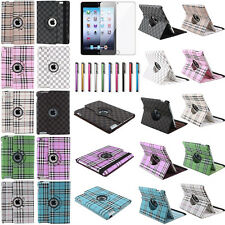New For Apple iPad 2 3 4 360 Rotating Magnetic PU Leather Case Smart Cover Stand