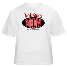 WORLD'S GREATEST MOM BLOODHOUND FUNNY T-SHIRT-Sizes Small through 5XL