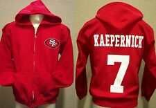 SAN FRANCISCO 49ERS COLIN KAEPERNICK JERSEY ZIP-UP HOODIE SWEATSHIRT