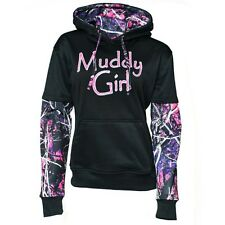 Moon Shine Attire Muddy Girl Pullover Hoodie (Black) MGPOCSB