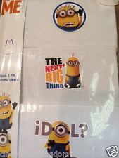 New Despicable Me Minion boys 3 pack of white vests underwear